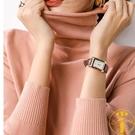 毛衣堆堆領羊毛短款寬鬆高領套頭韓版打底針織衫【雲木雜貨】
