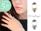 XOXO.神祕風格眼睛/手掌雙環戒指/關...