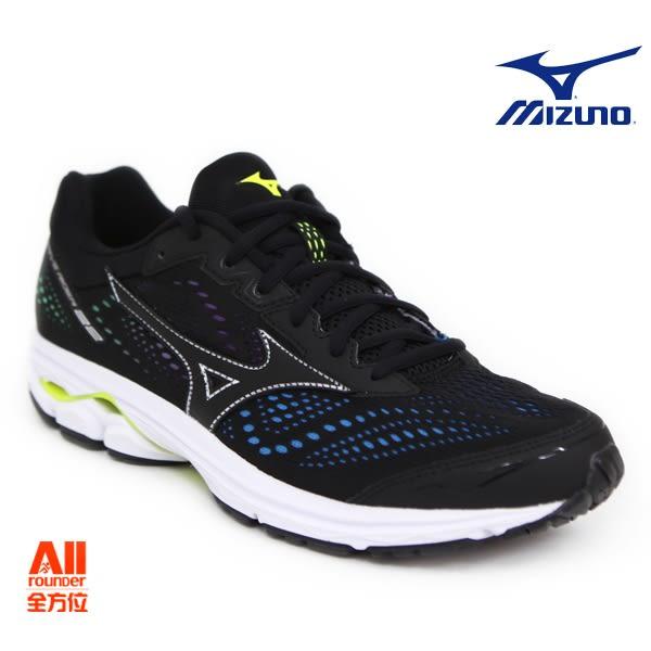 【Mizuno美津濃】大阪馬 特別款 男款馬拉松鞋 WAVE RIDER 22 -黑彩色(J1GC183709)全方位跑步概念館