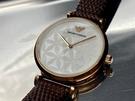 星晴錶業-ARMANI阿曼尼女錶,編號AR00007,32mm玫瑰金錶殼,咖啡色錶帶款