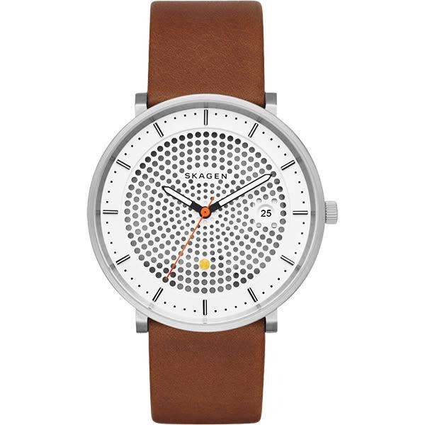 SKAGEN HALD 系列 solar 北歐風女錶-黑x白x咖啡/40mm SKW6277