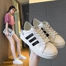 貝殼鞋 2021新款春秋貝殼鞋韓版女士貝殼頭板鞋百搭小白鞋網紅爆款女鞋子 歐歐