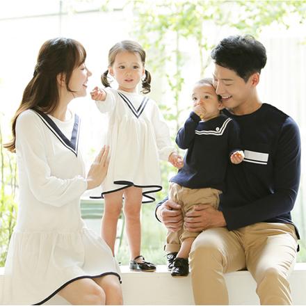韓版歐式優雅學院長袖上衣親子裝(男童)