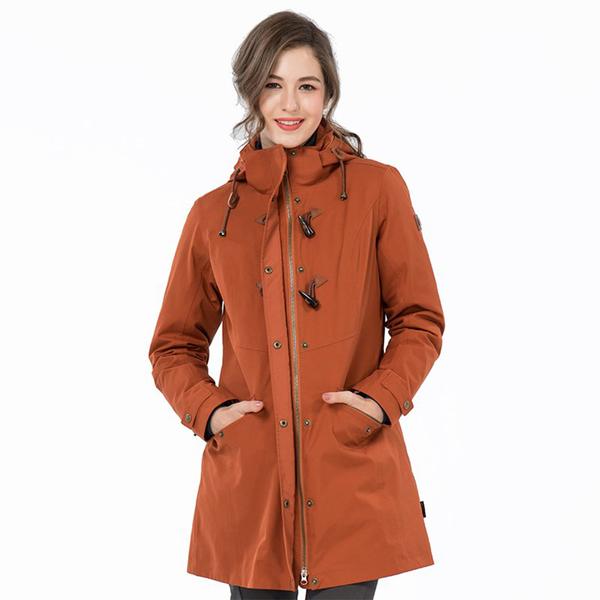 《歐都納 ATUNAS》女 都會時尚GT二件式羽絨外套『松果棕』GT1910W 防風 防水 透氣 兩件式外套