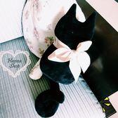 《花花創意会社》創意萌萌捲尾貓咪靠枕。小【H5101】