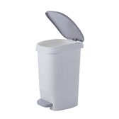 艾莉緩降垃圾桶12L白-2件組