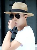 草帽 帽子男士夏天遮陽帽巴拿馬防曬帽戶外太陽帽漁夫釣魚禮帽草帽夏款
