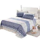 老粗布床單單件 棉加厚雙人被單棉布1.5米1.8m床 【快速出貨八折免運】