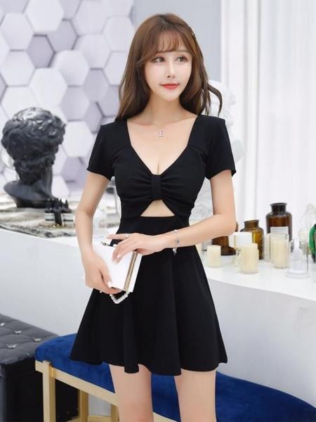 夜店洋裝 夜店性感連身裙2021新款女裝時尚氣質顯瘦女夜場低胸技師工作服潮 非凡小鋪