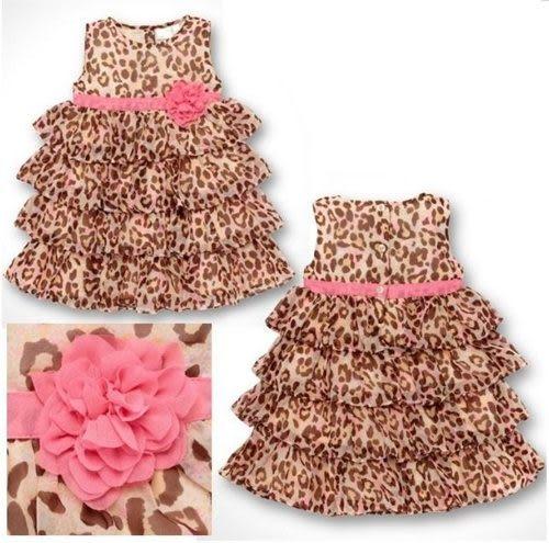 【零碼出清專區,無法退換貨】無袖洋裝   豹紋短袖公主裙蛋糕裙 S57002