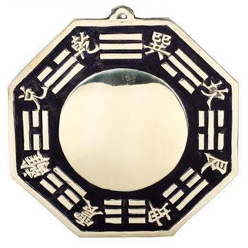 20公分純銅八卦鏡(凸鏡)