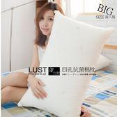 【一顆裝】四孔抗菌彈力棉枕/日本大和防蠻抗菌棉・台灣製造  正4孔棉  LUST生活寢具