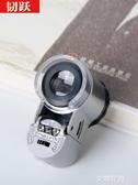 100倍高清手持放大鏡帶燈手機鏡頭顯微鏡迷你小型印刷網點便攜式瓷器古董『艾麗花園』
