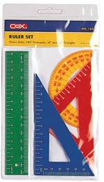 COX     NO.160C    塑膠尺組  / 組