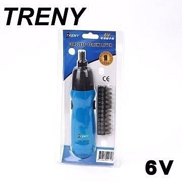 [ 家事達 ] TRENY 6V電動起子機  特價 電鑽 起子機 維修工具 修繕