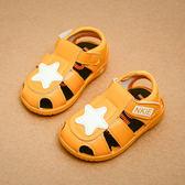 夏季1-3歲男寶寶涼鞋學步鞋叫叫鞋兒童鞋女寶寶鞋嬰兒鞋軟底單鞋