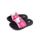 Hello Kitty 凱蒂貓 拖鞋 戶外 童鞋 粉紅/黑 819276 no815 16~19.5cm
