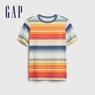 Gap 男童 清爽撞色條紋圓領短袖T恤 573630-彩色條紋