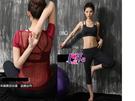 得來福,B135瑜珈服後面豔陽短袖運動衣三件式路跑健身服路跑七分褲附實拍,整套售價1100元