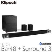 (福利品) KLIPSCH 古力奇 5.1聲道家庭劇院 Bar48 + Surround 3 公司貨 0利率 免運