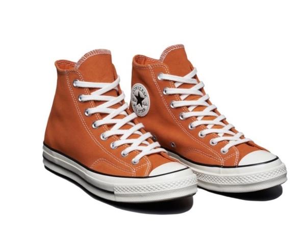 CONVERSE-Chuck 70 男女款橘色高筒休閒鞋-NO.166494C
