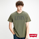 Levis 男款 短袖T恤 / 高密度膠印 Logo / 220gsm厚棉 / 軍綠