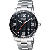 MIDO 美度 Multifort 先鋒系列時尚機械手錶-鐵灰x銀/42mm M0254071106100