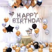 鋁膜氣球裝飾生日派對布置浪漫驚喜女男朋友成人生日快樂字母套餐  極有家