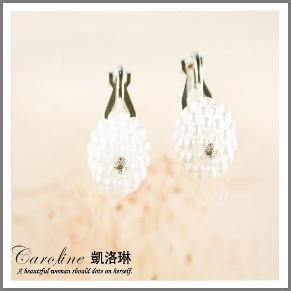 《Caroline》★韓國進口奧地利施華洛世奇水晶時尚耳環32325