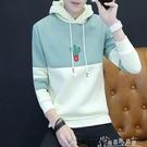 套頭棒球服男士韓版修身青少年情侶連帽衫加絨連帽T恤男裝外套 新春禮物
