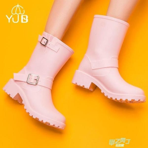 雨鞋 雨鞋女中筒春夏膠鞋成人雨靴女防滑時尚套鞋橡膠水鞋女橡膠雨靴潮【快速出貨】
