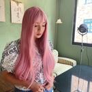 全頂假髮 仿真頭皮 人魚姬珊瑚粉 柔順長直髮 霧面髮絲RD7133 魔髮樂