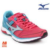 【Mizuno美津濃】女款慢跑鞋 WAVE EMPEROR 3 皇速 -粉藍色(J1GB187609)全方位跑步概念館
