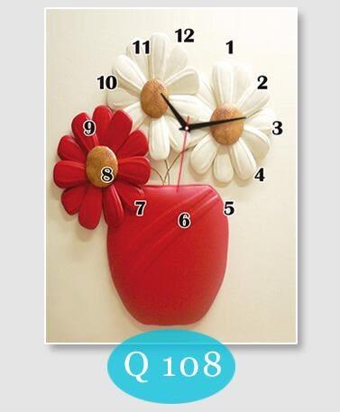 豎款電錶箱裝飾畫豎版遮擋配電箱帶掛鐘【40*50(內徑30*40)】