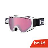 法國 Bolle EXPLORER OTG 青少年款 雙層鏡片設計 防霧雪鏡 亮麗白/朱金紅 #21377