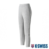 K-SWISS Ks Waist Band Capri Pants棉質九分褲-女-灰