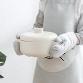 2只加厚棉麻防燙手套隔熱烤箱用手套微波爐烘焙耐高溫防熱廚房