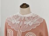 假領子襯衫穿搭假領片 雪紡紗大領子針織衫大學T外套[E1751]滿額送愛康衛生棉預購.朵曼堤洋行