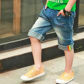 818好康 男童牛仔中褲短褲夏裝五分褲馬褲寬鬆童裝