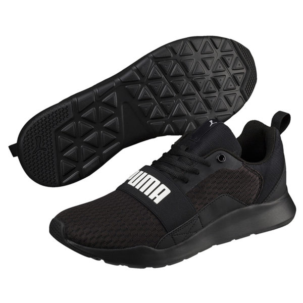 Puma Wired 男 女 全黑 運動鞋 休閒鞋 慢跑 健身 運動 網布鞋面 輕量 透氣 情侶鞋 36697001