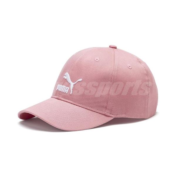 Puma 帽子 ARCHIVE Logo BB cap 粉紅 白 男女款 老帽 【ACS】 02204806