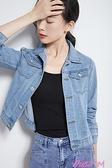 牛仔外套牛仔外套女新款潮ins網紅潮流簡約時尚修身韓版原宿bf牛仔衣 JUST M
