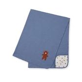 mothercare 藍格紋小熊披肩-靛藍百搭(M1TA085)