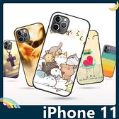 iPhone 11 Pro Max 彩繪Q萌保護套 軟殼 卡通塗鴉 小清新 防指紋 全包款 矽膠套 手機套 手機殼