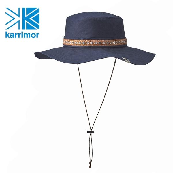 日系[ Karrimor ] Safari Hat 抗UV圓盤帽/遮陽帽 航海藍