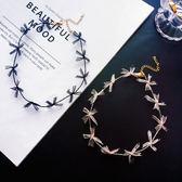 原宿風手作設計感蝴蝶結項圈可愛日系韓版項鍊鎖骨鏈女頸鏈【ADE684】