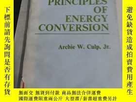二手書博民逛書店PRINCIPLES罕見OF ENERGY CONVERSION