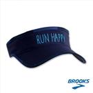樂買網【BROOKS】18FW Run Happy字樣 中性慢跑遮陽帽 海軍藍 280356466