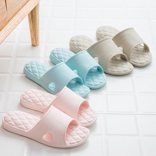 熱銷款 新款 菱形 居家拖鞋 室內拖 情侶 浴室拖鞋 可水洗 防水 素色【RS851】