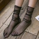 3雙裝 復古網紗女韓國金銀絲襪漁網薄款堆堆襪子【聚寶屋】